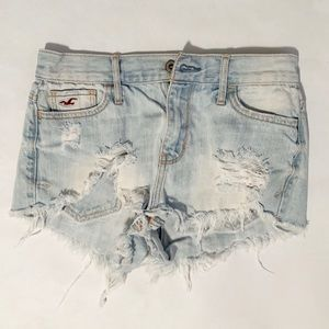 Hollister Very Distressed Jean Shorts 25